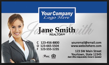 Here is a traditional business card style